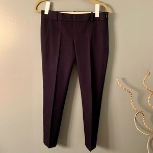 J CREW City fit blue cropped pants size 2